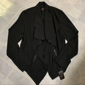 NWT Fever Drape Front Black Cardigan Jacket